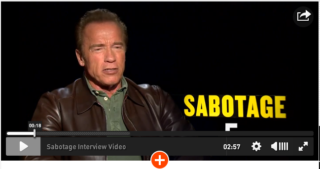 My Interviews with Arnold Schwarzenegger and Joe Manganiello for their new movie, Sabotage